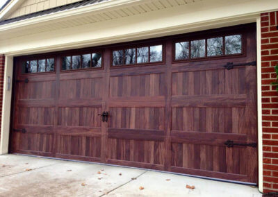 Garage Door with Windows in Accents Woodtones