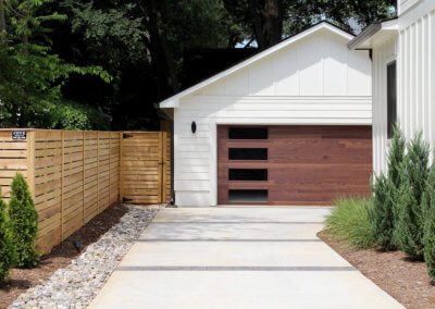 Contemporary Style Garage Door in Accents Woodtones