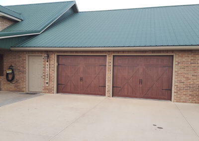 Accents Woodtones Garage Door in Mahogany
