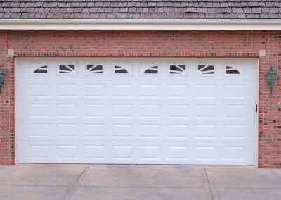 Starburst Windows in Residential Garage Door