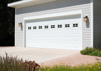 Steel Raised Panel White Garage