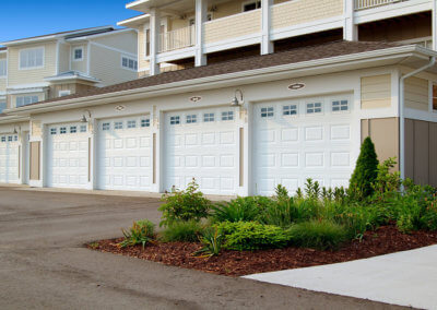 Raised Panel Garage Doors for Condos and Apartments