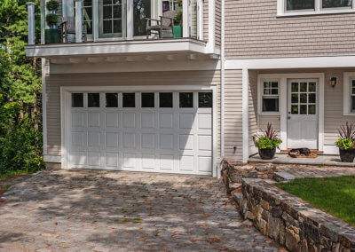 Fiberglass Raised-Panel Garage Door in White