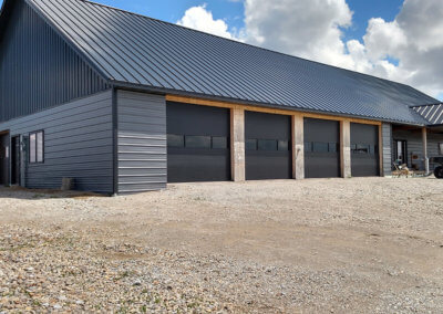 Black Steel Micro-Grooved Garage Doors