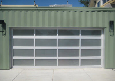 Aluminum Full-View Frosted Glass Garage Door