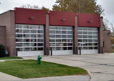 Aluminum Full-View Garage Door at Fire Station in Ames