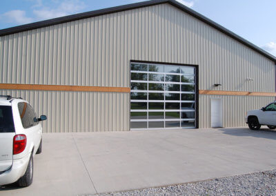 Aluminum Full-View Commercial Garage Door
