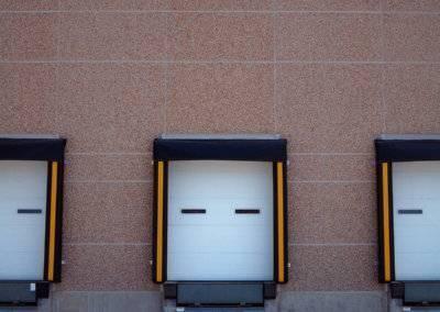 White Steel Micro-Grooved Doors