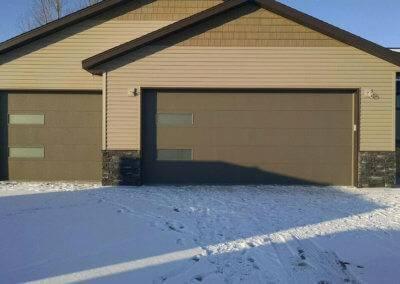 Residential Flush Panel Garage Door with Windows