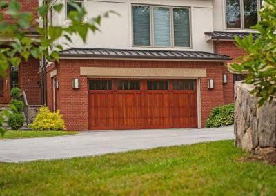 Wood Overlay Carriage House Garage Door