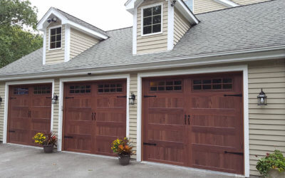 Real Wood vs. Woodtones Garage Doors
