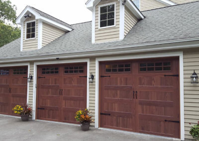 Residential Garage Doors in Accent Woodtones
