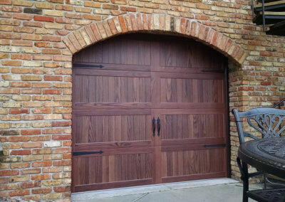 Classic Look with a Steel Accent Woodtones Garage Door