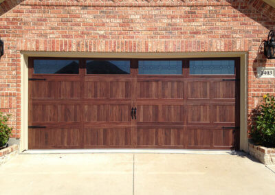 Accents Woodtones Steel Garage Door with Windows