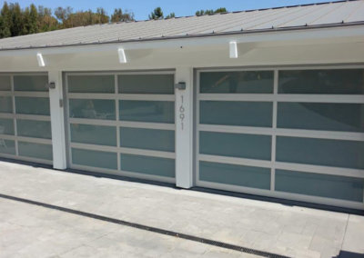 Full-View Powder-Coated Aluminum Garage Doors