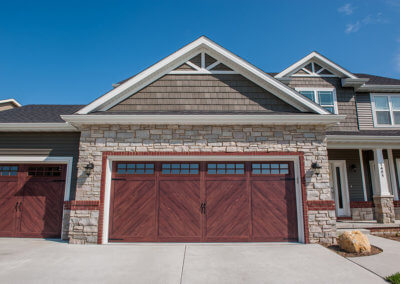 Steel Garage Door with Wood Look