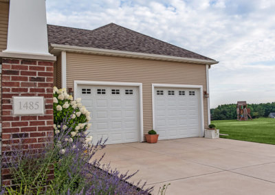 Steel Raised Panel Garage Door with Short Panels