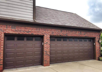 Short Panel Steel Garage Door in Brown