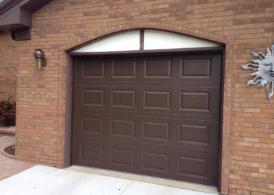 Raised Panel Garage Door in Brown