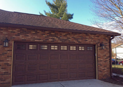 Stockton Mahogany Steel Garage Door