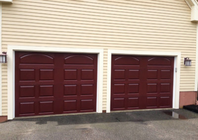 Insulated High-Def Fiberglass Mahogany Garage Door