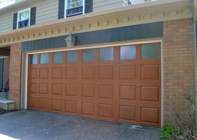 High-Definition Fiberglass Garage Door with Obscure Glass