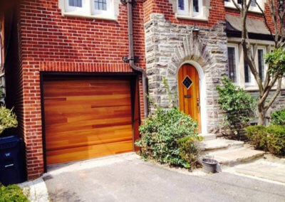 Accents Woodtones Garage Door in Cedar