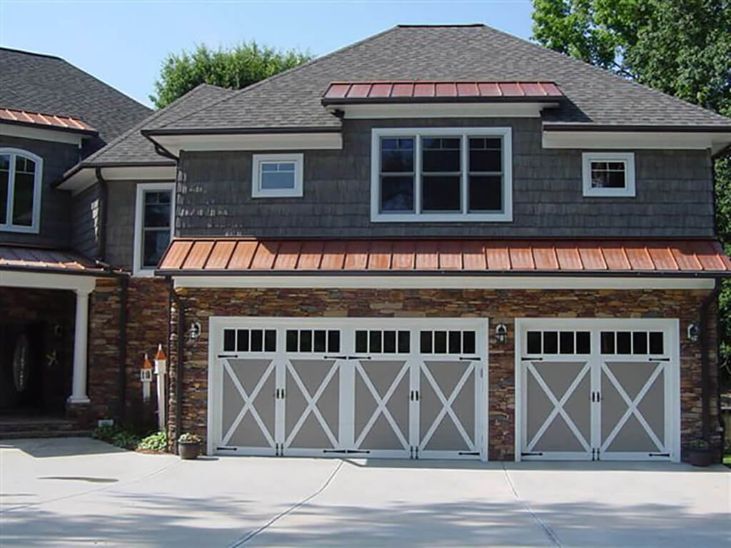 amega garage door carriage house with windows