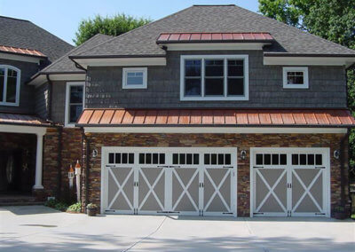 Overlay Carriage House Garage Door with Madison Windows
