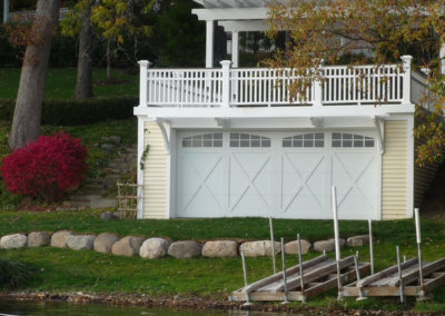 White Overlay Carriage House Garage Door