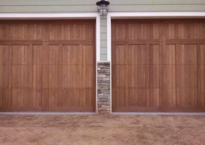 Mahogany Overlay Carriage Garage Door