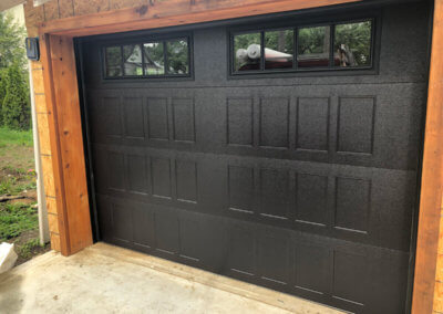Black Stamped Shaker Garage Door