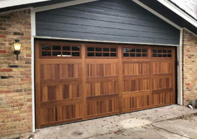 Stockton Style Windows in an Accents Woodtones Garage Door
