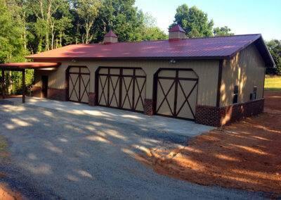 Overlay Carriage House Garage Door Two-Tone