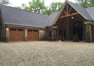 Steel Garage Door with Woodtones