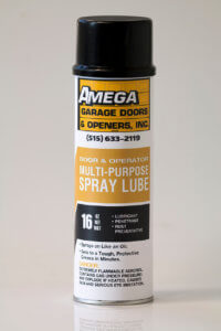 amega garage door opener spray lubricant