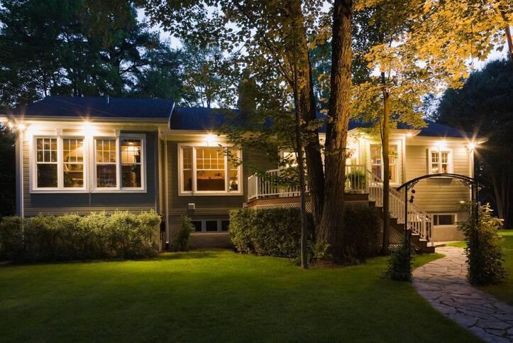 motion sensing lights keep garage safe